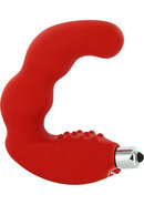 Bad Boy Silicone Vibrator Red