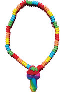 Rainbow Pecker Canky Necklace