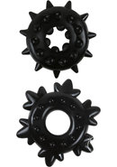 Renegade Spike Rings Black 2 Each Per Set
