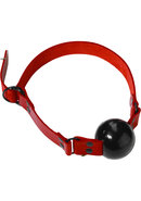 Redline Large Ball Gag With D Ring Leather