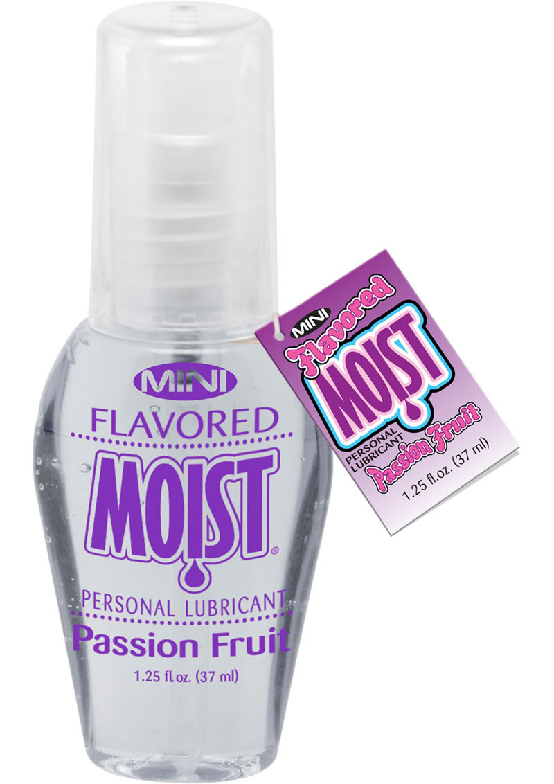 Mini Moist Flavored Water Based Personal Lubricant Passion Fruit 1.25 Ounce