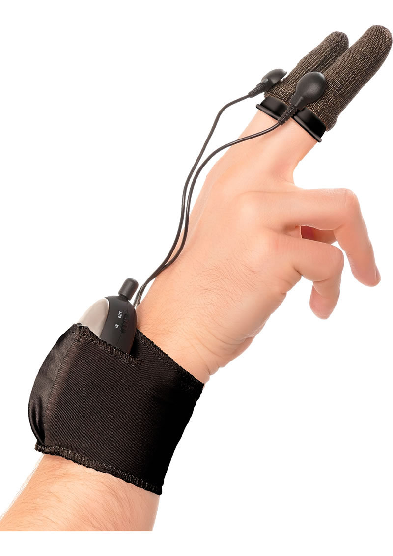 Fetish Fantasy Wired Remote Control Shock Therapy Finger Fun Sleeves