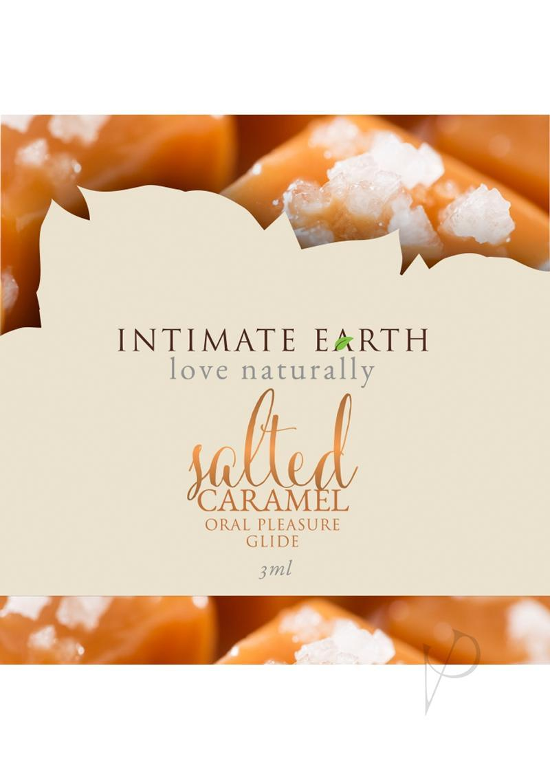 Intimate Earth Oral Pleasure Glide Salted Caramel 3 Milliliter Foil Pack