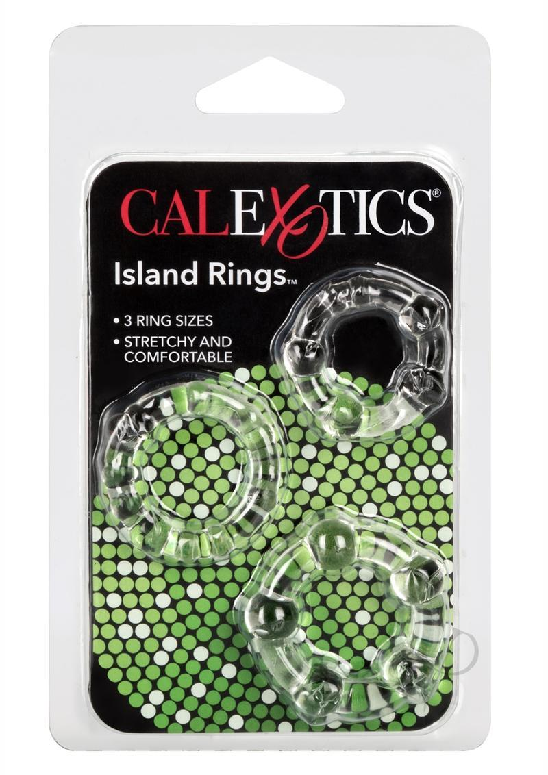 Siicone Island Rings Clear 3 Sizes